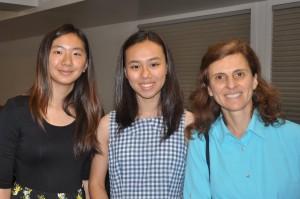 MSSL Co-Presidents Amanda Mac and Sabrina Liu with MSSL advisor Olya Katsman